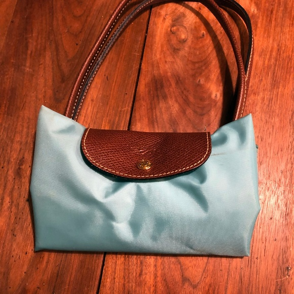 3416455949 Longchamp Bags | Small Le Pliage Tote Mint Green | Poshmark